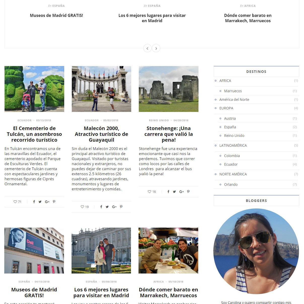 Diseño Web de 4everviajeros.com | PORTAFOLIO DE KOLASH